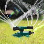 Rociador de agua de 3 brazos para jardines de jardin Premium - Verde