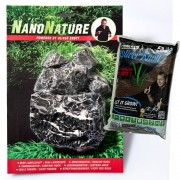 NanoNature set de decoración con rocas Leopardo.- 5 rocas + 3 litros NatureSoil marrón, fino