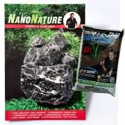 NanoNature set de decoración con rocas Leopardo.- 5 rocas + 3 litros NatureSoil negro, fino