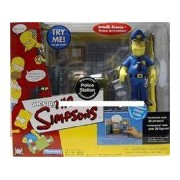 The Simpsons Springfield Police Station & Exclusive Officer Eddie Action Figure