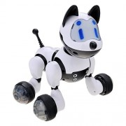 Hongxin Electronic Pets Robot Dog Intelligent Electronic Music Flash Walking Dog Kids Puppy Pet Toy Best Friend New Year Gift Wireless Remote Control Smart Dog Educational Children's Toy