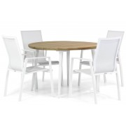 Lifestyle Garden Furniture Lifestyle Ultimate/Julia 120 cm rond dining tuinset 5-delig