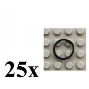 LEGO LEGO Technic NEW 25 pcs EXTRA SMALL BLACK RUBBER BAND BELT PACK Tiny Little Elastic Square Cross Section