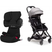 Cybex Solution X2-Fix Silver Line Resepaket Beemoo Easy Fly Sulky, Grey Melange