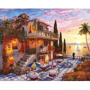 Springbok Puzzles - Mediterranean Romance - 1000 Piece Jigsaw Puzzle - Large 30 inches by 24 inches Puzzle - Made in USA - Unique Cut Interlocking Pieces