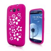 Samsung I9300 Galaxy S III Flora Силиконов Калъф Розов + Протект