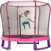 Set trambulina copii cu plasa de protectie Junior Pink Purple 7FT PLUM
