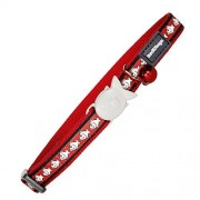 Red Dingo Reflective Cat Collar, One Size Fits All, Red