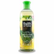 Sampon anti-matreata cu lamaie si tea tree, pt. toate tipurile de par, Faith in Nature, 400 ml