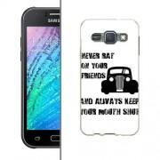 Husa Samsung Galaxy J1 J100 Silicon Gel Tpu Model Never Rat On Your Friends