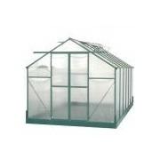 Foresta Serre de jardin structure aluminium 10.37m² avec base et 4 fenêtres de toit