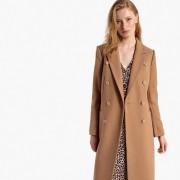 Manteau long en mélange laine