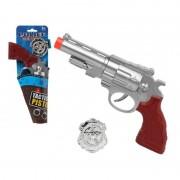 Fiesta carnavales Politie speelgoed pistool zilver 27 cm