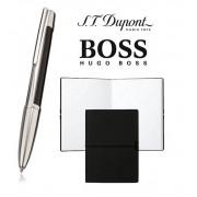 Set S.T. Dupont Defi Multifunction Black Palladium Pen si Note Pad Black Hugo Boss