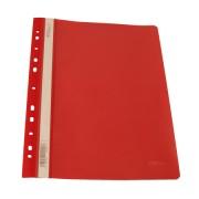 Dosar plastic cu sina EVOffice 11 perforatii A4, Rosu, set 50 buc