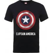 Marvel Camiseta Marvel Los Vengadores Escudo Captain America - Hombre - Negro - XL - Negro