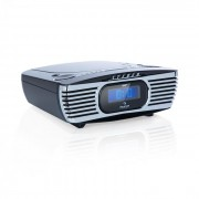 Auna Dreamee DAB+, rádiós ébresztőóra, CD-lejátszó, DAB+/FM, CD-R/RW/MP3, AUX, retró, fekete (MG-Dreamee DAB+ BK)