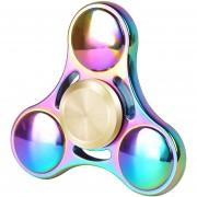 Spinner Fidget Gyro Juguete Bola De Acero, Arco Iris Aleación EDC Mano Spiner Ronda Tri Fidget Escritorio Juegos De Alta Velocidad De Juguete De Enfoque (arco Iris)