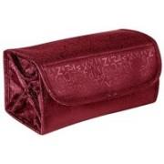 swadec Folding Jewellery & Cosmetics Organiser & Storage Travel Bag Travel Toiletry Kit(Red)