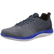 Reebok Men's Print Run Prime Ultk Grey/White/Blk/Blue Running Shoes - 10 UK/India (44.5 EU) (11 US)