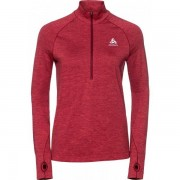 Odlo WARM Irbis Midlayer Half-Zip Women - Female - Rood - Grootte: Extra Large