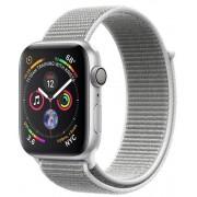Smartwatch Apple Watch 4, 40mm, LTPO OLED Retina Display, GPS, Bluetooth, Wi-Fi, Bratara Sport Loop Argintie, Carcasa aluminiu, Rezistent la apa si praf (Silver)