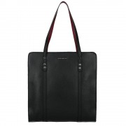 Coccinelle Borsa Shopping Verticale Organisee Soft in Pelle Nera