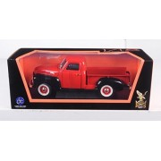 1950 GMC Pick-up Truck, Red w/ Black - Road Signature 92648 - 1/18 Scale Diecast Model Toy Car