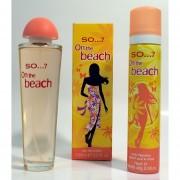 Perfume Para Dama SO ON THE BEACH 100ML EDT + BODY FRAGANCIA 75ML