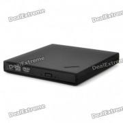 delgado portatil USB externo 4X blu-ray / rw reproductor de CD / DVD - negro