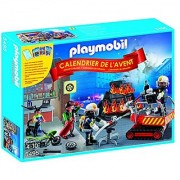 PLAYMOBIL Advent Calendar Fire Rescue Operation Set with Card Game
