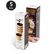 Cesti de Cafea Comestibile Acoperite cu Ciocolata - Chocup Mini 5 buc.