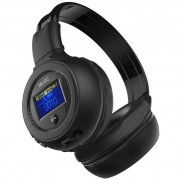 MalloomBluetooth Oortelefoon Stereo Draadloze Gaming Bass Headset Hoofdtelefoon met microfoon Mp3-speler FM Mobiele telefoon Zwart