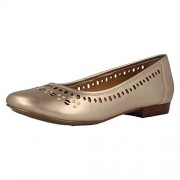 Clarks Women's Henderson Hot Gold (Fit E) Leather Pumps - 6 UK