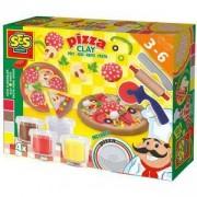 Детски занимателен комплект с пластелин, Пица, SES, 080756