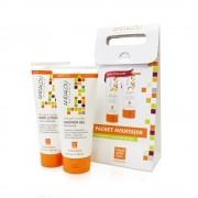 Pachet Promo: Lotiune de corp + Gel de dus revitalizant cu extract de mandarine si vanilie Andalou Naturals Secom