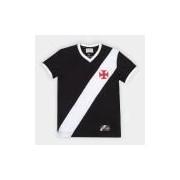 Camiseta Vasco Retrô Mania 1948 Masculina - Masculino Preto+Branco