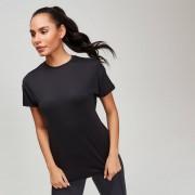 Mp dámské tréninkové tričko s texturou - Černé - XS