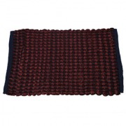 Kuber Industries Hand Crafted Style Cotton Blend Door Mat Reversible - Coffee (Can be used from both sides) Size-60*38 Cm