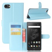 For BlackBerry Motion Litchi Texture Horizontal Flip Leather Case with Holder & Card Slots & Wallet(Blue)