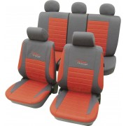 Set huse universale scaun auto, rosu, 11 piese, Cartrend Active