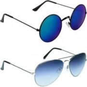 Zyaden Round, Aviator Sunglasses(Multicolor)