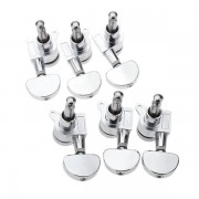 Chrome Silver Lock Guitar Tuning Pegs Tuning Heads 3R 3L For Electric Acoustic Guitar