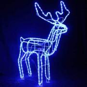 Reni de Craciun 3D cu Coarne Furtun Luminos LEDuri Albastre CL