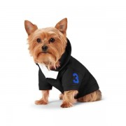 Ralph Lauren Pet Fleece Dog Hoodie - Polo Black - Size: Extra Small