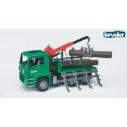 BRUDER 02769 Camion forestier MAN cu macara de încărcare