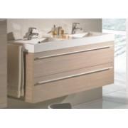 Ansamblu mobilier Riho cu lavoar dublu 120cm gama Bologna, SET 63 Standard
