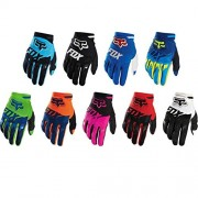 ELECTROPRIME Fox Racing Race Gloves - Motocross ATV Dirt Bike Gear Blue Yellow M