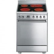 Smeg Concert 60cm Electric Cooker, Stainless Steel - CX68CM8