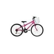 Bicicleta Mormaii Aro 24 Fantasy 21 Marchas Rosa